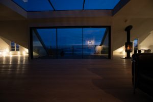balcony and view at night at The Penthouse