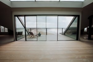 view to the balcony at The Penthouse