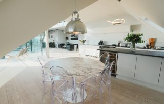 dining area in The Penthouse